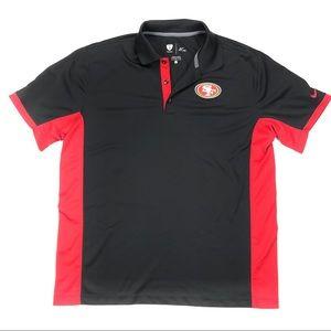 Men's NFL San Francisco 49ers Nike Dri Fit polo